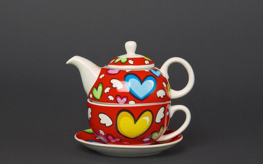 Tea for One Set Flying Heart