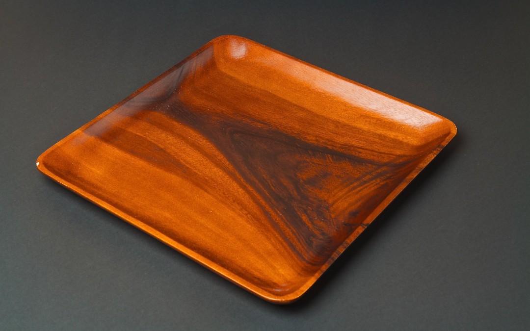 Tablett Holz rot